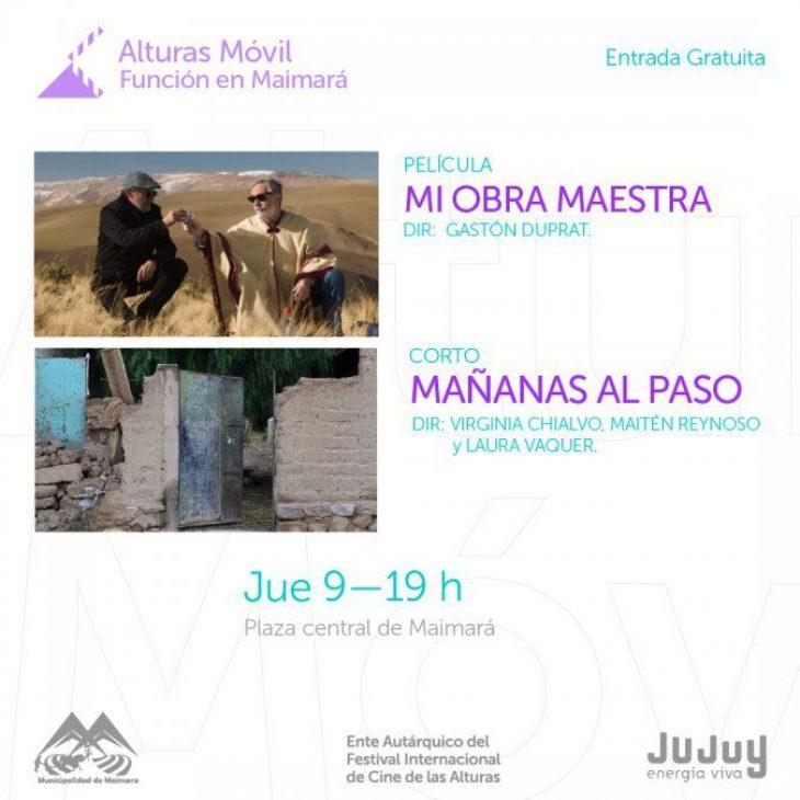Función de Cine Móvil en Maimará