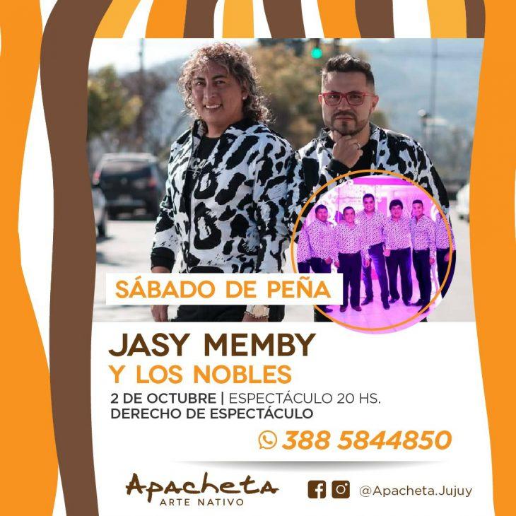 Jasy Memby y Los Nobles en Apacheta