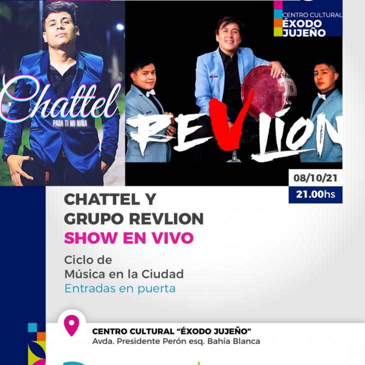 Chattel y Grupo Revlion en Concierto