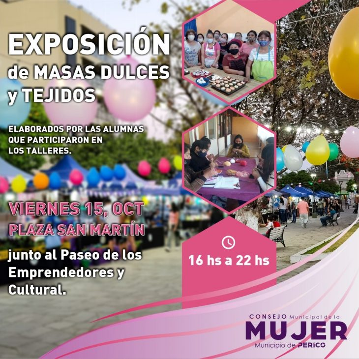 Exposición de Tejidos y Masas Dulces en Perico