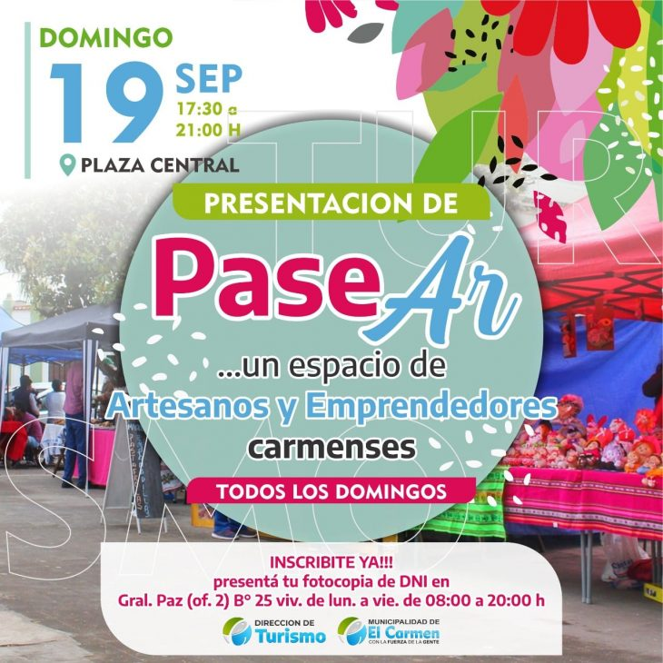 Artesanos en Plaza T.Perez en El Carmen